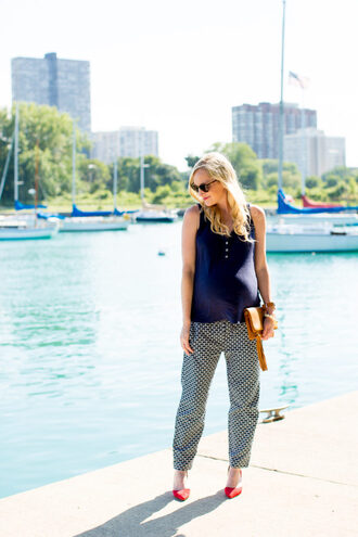 kelly in the city - a preppy chicago life style and fashion blog blogger pants