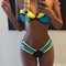 Women strapless bandeau bikini set