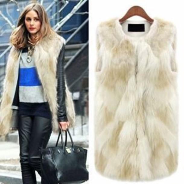 Coat Fur Faux Fur Vest Waistcoat Jacket Winter Outfits Cozy Warm Instagram Tumblr