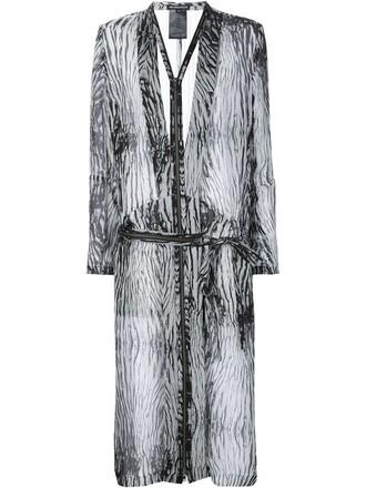 tunic sheer zip white top