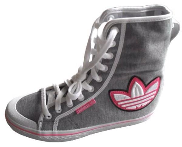 shoes adidas grey pink honey hi hi trainers adidas shoes adidas shoes adidas adidas shoes adidas honey hi w adidas grey/rosa