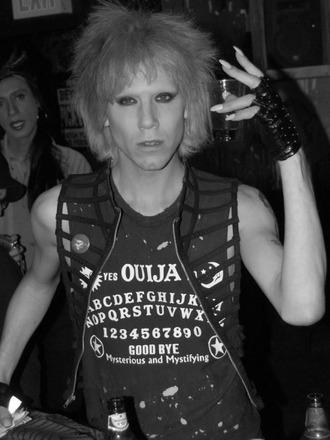 jacket caged vest sharon needles punk badass drag