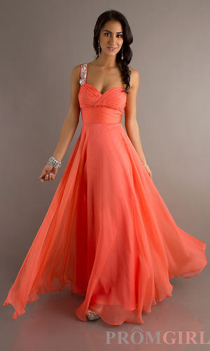 Floor Length One Shoulder Sweetheart Dress - $357 : love3.us