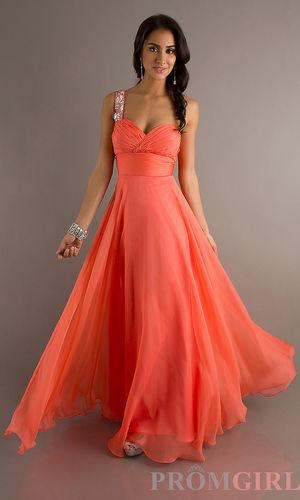 Floor Length One Shoulder Sweetheart Dress - $357 : love3.us