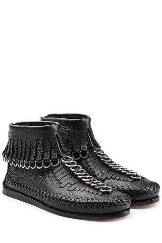 moccasin ankle boots boots ankle boots leather black shoes