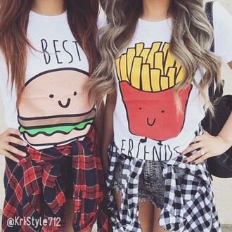 top best friends burger and fries