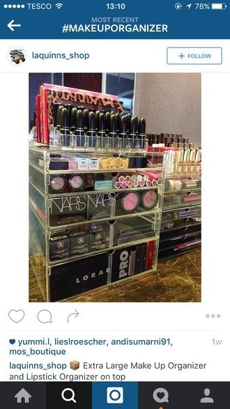home accessory organiser make-up makeup table makeup bag mac cosmetics nars cosmetics