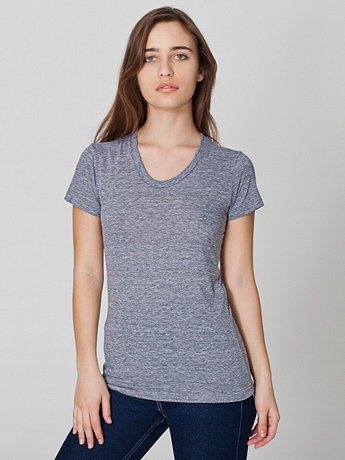 Tri-Blend Short Sleeve Women's Track T | American Apparel
