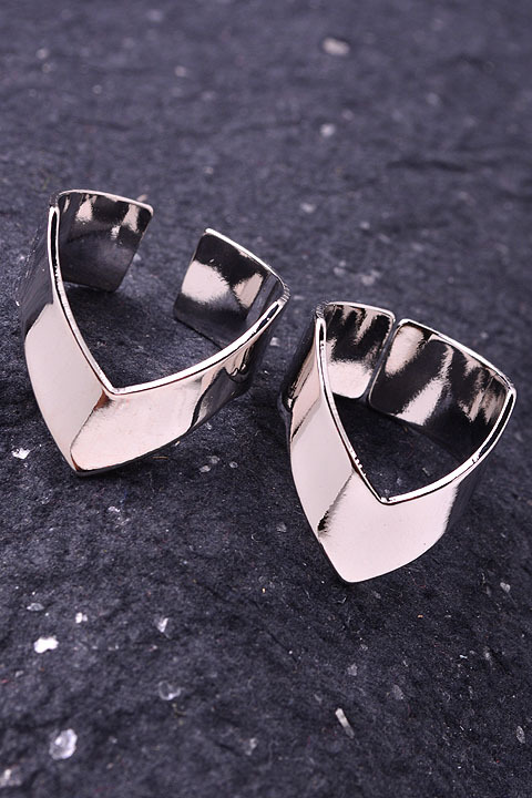 Pointed Cuff Midi Ring Set