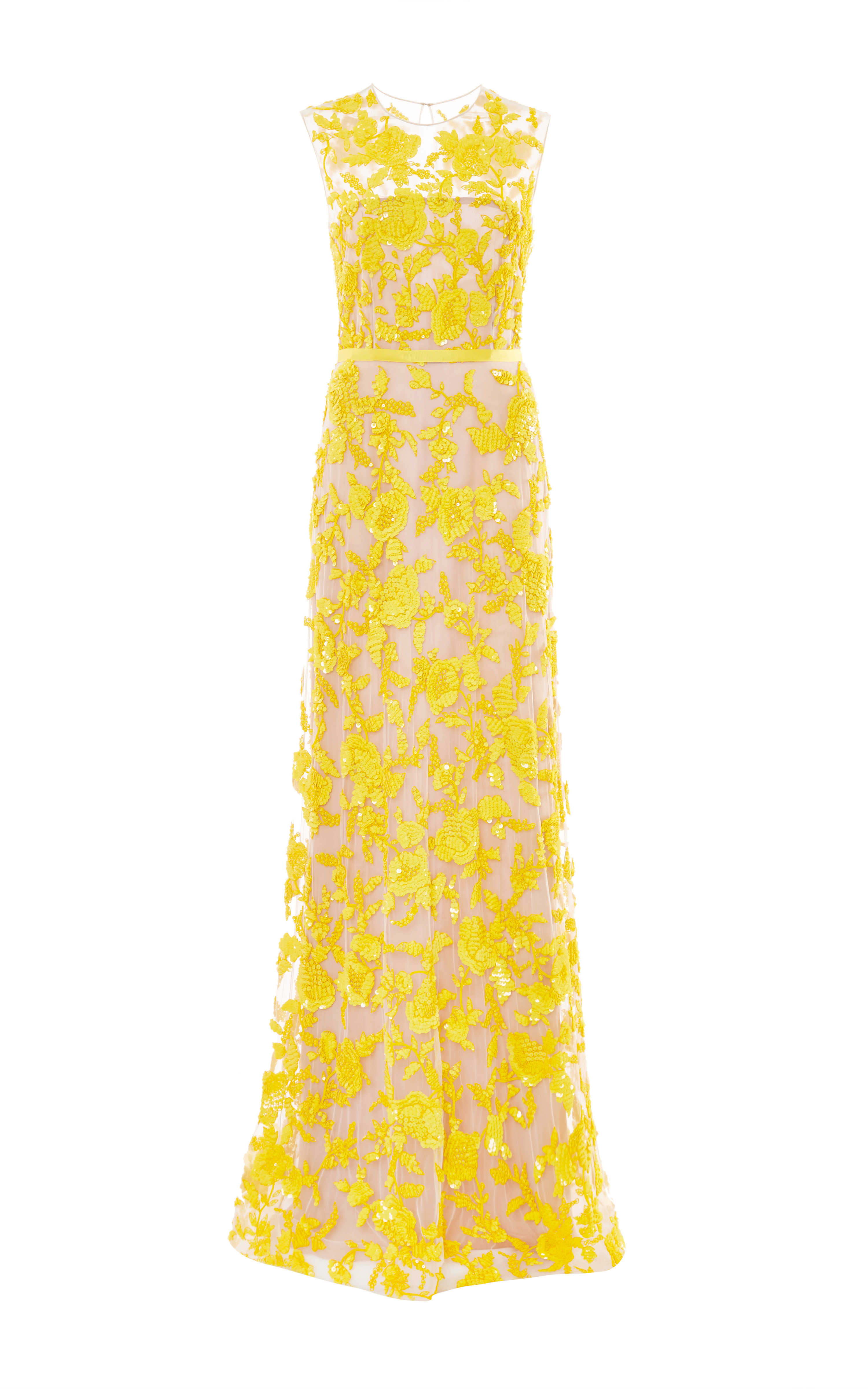 Floral beaded gown by naeem khan