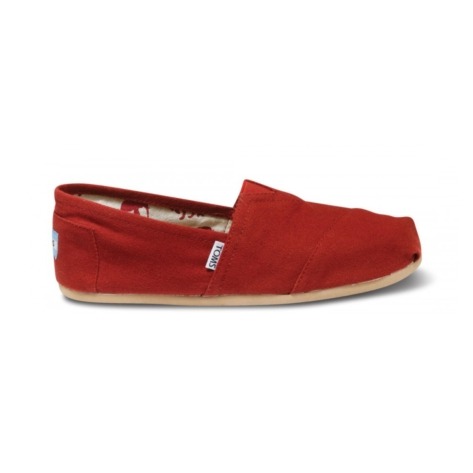 Mens TOMS Classic, Red, at Journeys Shoes