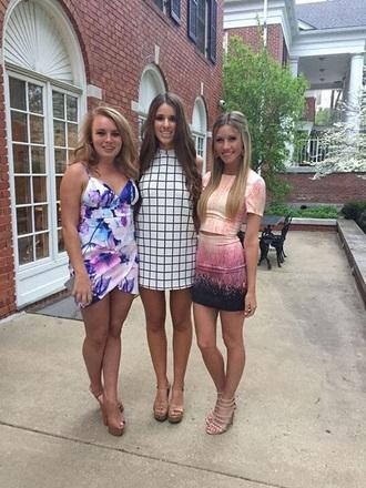 dress ombre dress ombre two piece dress set two-piece pink dress purple dress shortsleeve dress