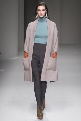 coat pants high waisted runway milan fashion week 2017 salvatore ferragamo turtleneck top fall outfits