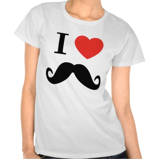 I Love Mustache Tshirts from Zazzle.com