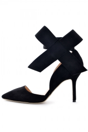 Fashion sexy big bowknot black stilettos