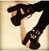 shoes,black,platform shoes,platforms black fashion