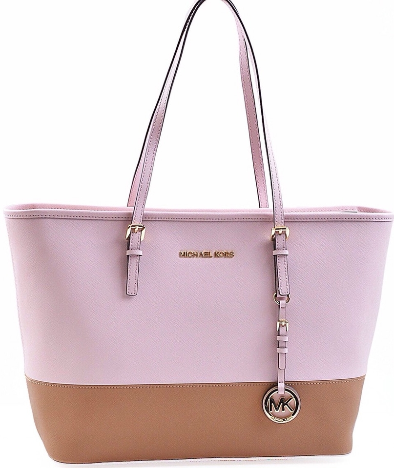 16ffd494a5e Michael Kors Nwt Jet Set Travel Top Zip W Matching Wallet In Pink ...
