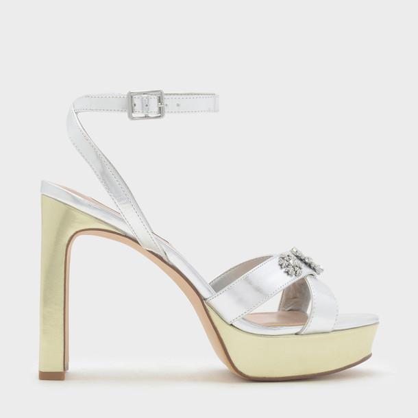 embellished platform heels heels silver shoes