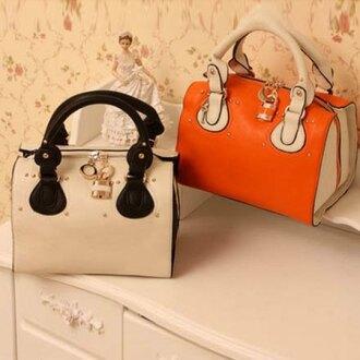 bag purse white orange classy elegant fashion style rose wholesale-jan