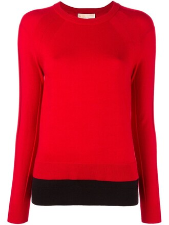 jumper fine knit jumper knit women red sweater