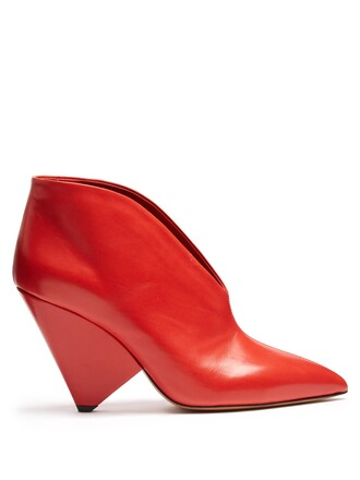leather ankle boots ankle boots leather red shoes