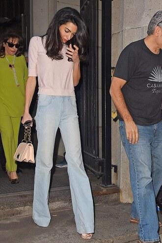 jeans denim amal clooney flare jeans