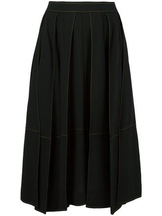 skirt midi skirt women midi black wool