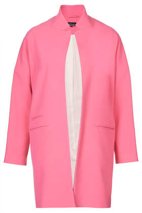 Notch Neck Throw On Coat - Jackets & Coats  - Clothing  - Topshop