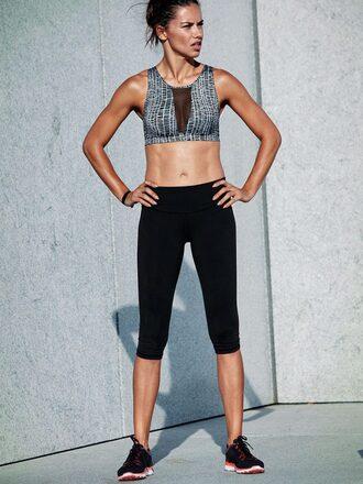 top bra sportswear sports bra adriana lima sneakers leggings victoria's secret