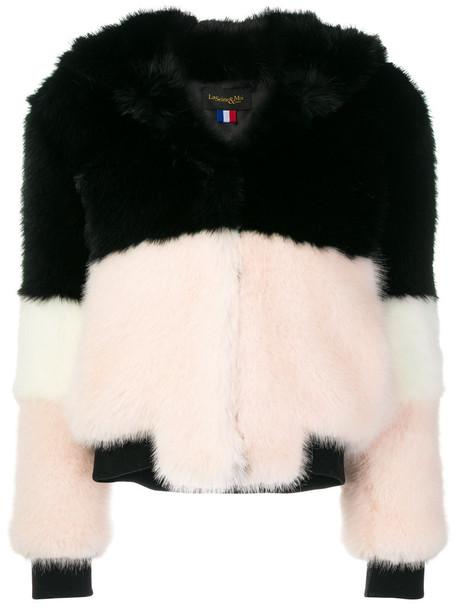 La Seine & Moi coat faux fur coat fur coat fur faux fur women black