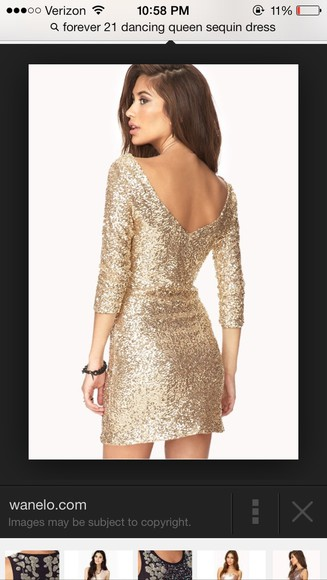 dress gold sequins forever 21