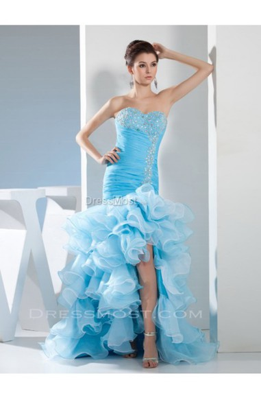 dress formal sexy dress prom dress party dress evening dress blue dress high low mermaid prom dresses long dresses