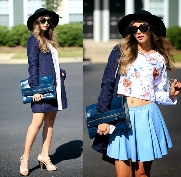 blogger jewels clutch top queen horsfall holographic felt hat cardigan fall outfits