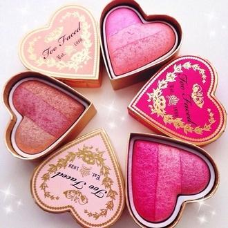 make-up gloves cheek blush heart romantic girly