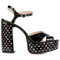 Marc jacobs - embellished lust platform sandals - women - leather/patent leather - 37, black, leather/patent leather