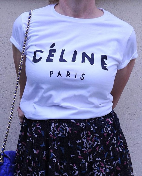 t-shirt celine celine paris shirt shirt
