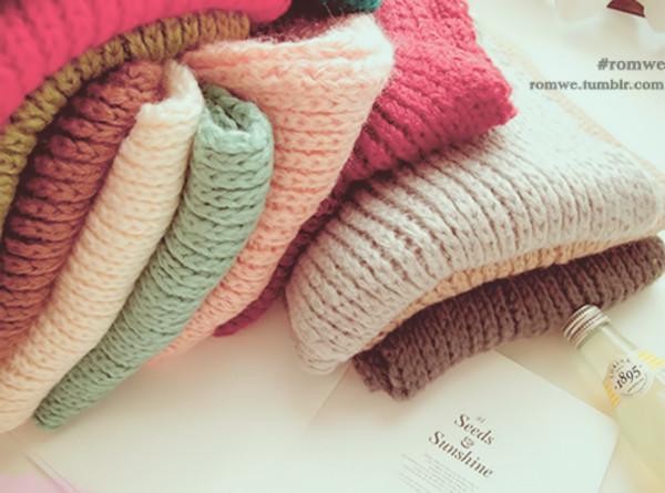 sweater romwe sweater colorful