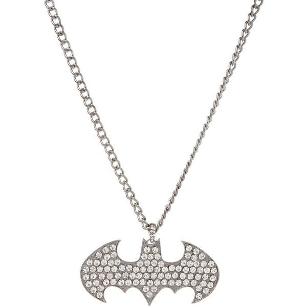 Hematite Bling Batman Necklace - Polyvore