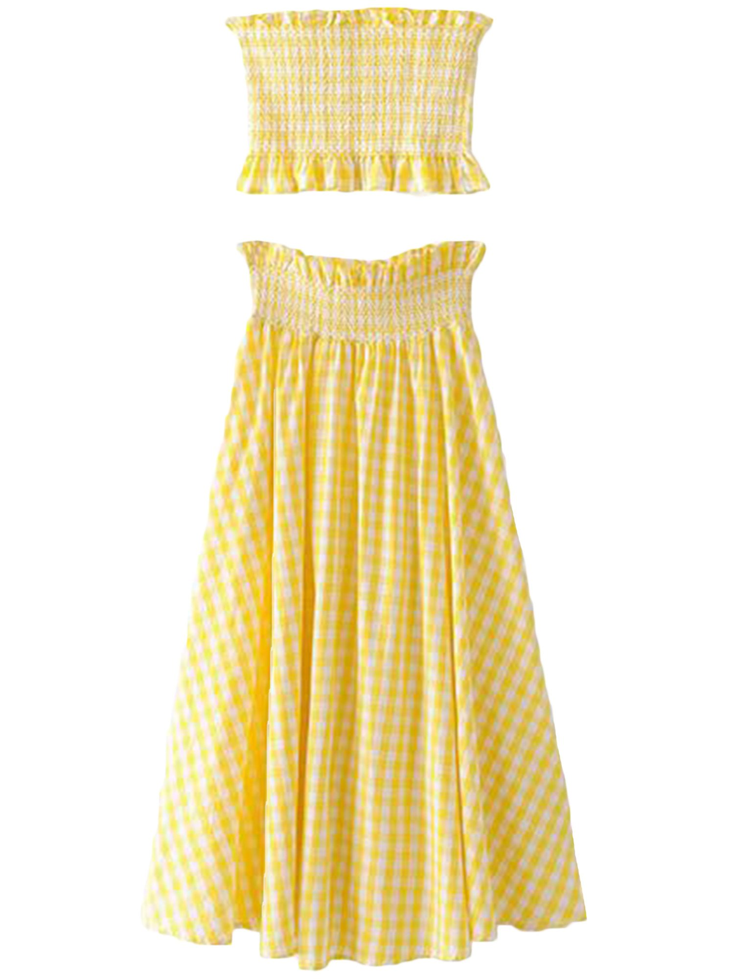'Rita' Filly Plaid Midi Skirt Co Ords