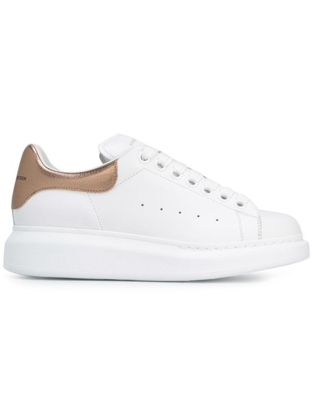 Alexander Mcqueen women sneakers leather white suede shoes