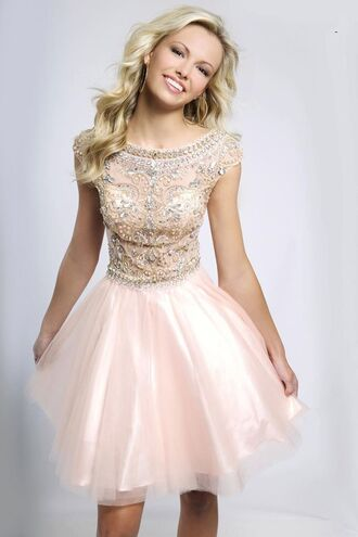dress prom dress prom pink dress pink blonde hair pretty beautiful gown wedding dress