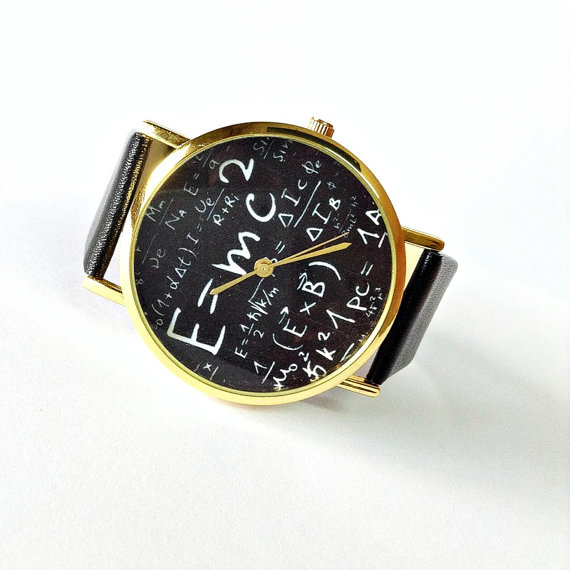 Original Freeforme Einstein Watch , E=MC2 Equation Watch, Vintage Style Leather Watch, Women Watches, Mens Watch, Unisex , Boyfriend Watch,