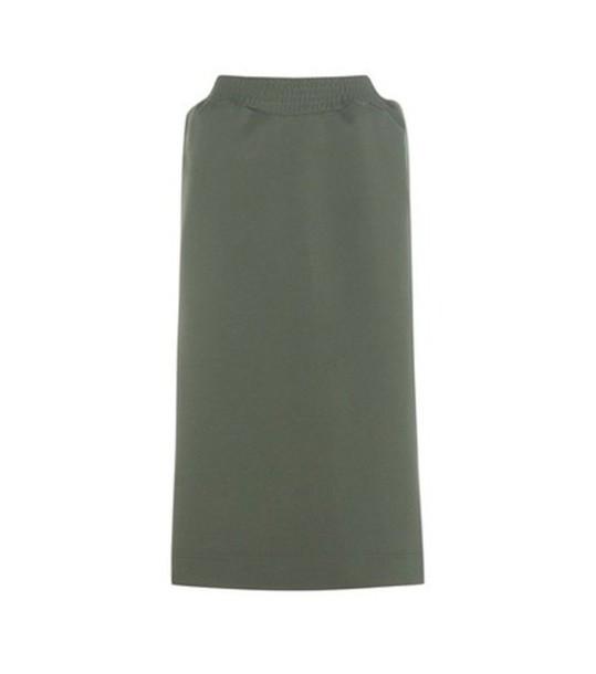 Balenciaga Jersey Skirt in green