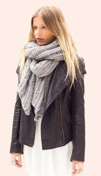 scarf scarves wool knit long