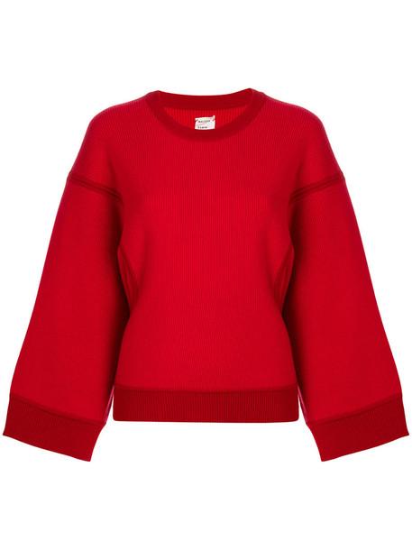MAISON RABIH KAYROUZ sweatshirt oversized women wool red sweater