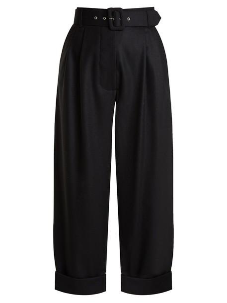 ISA ARFEN cropped wool black pants