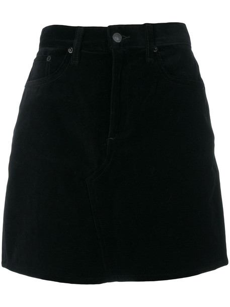 skirt mini skirt mini women cotton black