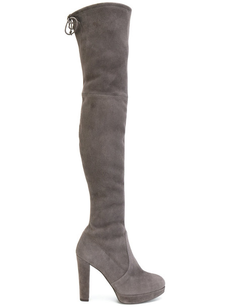 women leather suede grey shoes