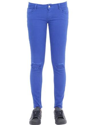 jeans denim fit cotton blue