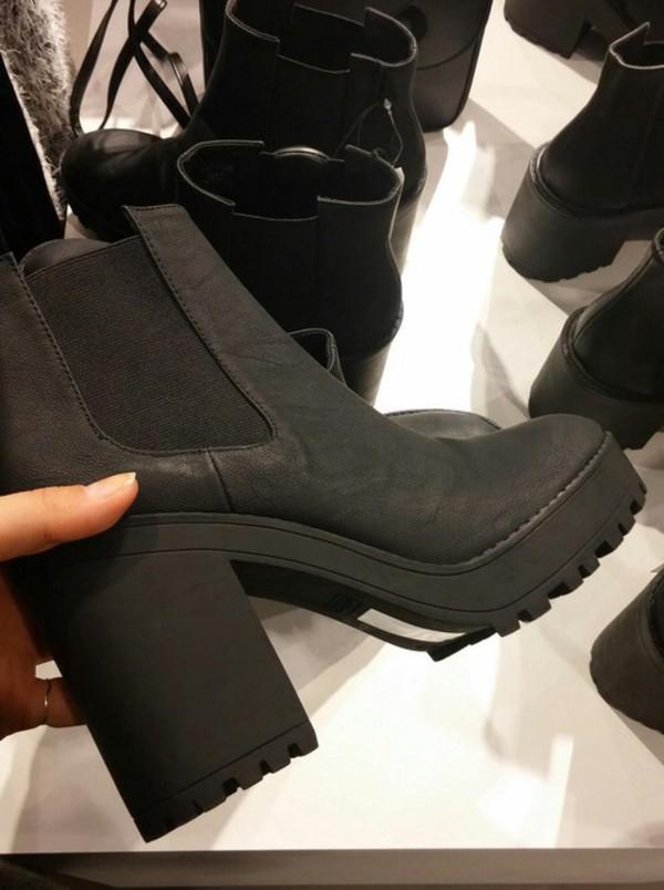 boots heels black chelsea boots